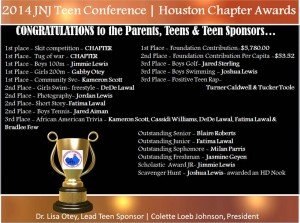 2014 Teen Conference Awards